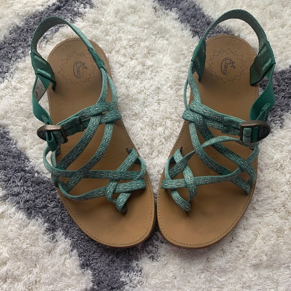 Chao Green Diana Sandals size 7